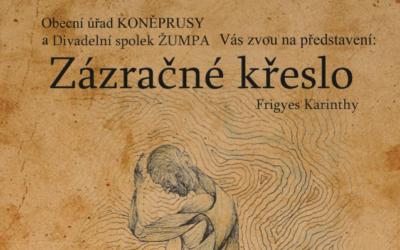 Divadelní představení Zázračné křeslo 9.11., 19:00 Koněprusy